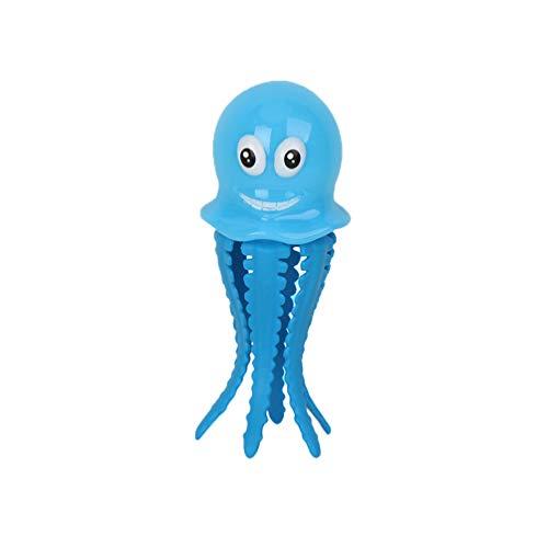 NUOBESTY Tauchbecken Spielzeug Wasser Pool Spiel Kunststoff Oktopus Spielzeug Leuchtend Badespielzeug Geschenk für Kinder Babys (Blau)