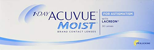 Acuvue 1-Day Acuvue Moist For Astigmatism Tageslinsen weich, 30 Stück/ BC 8.5 mm / DIA 14.5 mm/ CYL -1.25 / ACHSE 30 / -0.5 Dioptrien