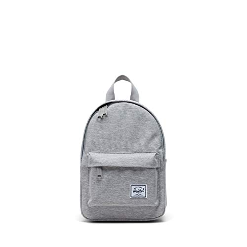 Herschel Unisex's Classic Backpack Mini, Light Grey Crosshatch, 9.0L