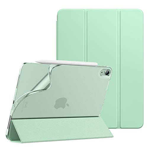 Dadanism iPad Air 4 Case 2020 iPad 10.9 Case,Slim Smart Shell Stand Folio Case with Soft TPU Translucent Frosted Back Cover for iPad Air 4th Generation 2020, Auto Wake/Sleep, Green