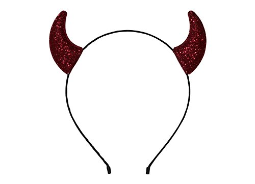 "Anna Belen""Devil"" Horns Halloween Headband O/S Red Glitter"