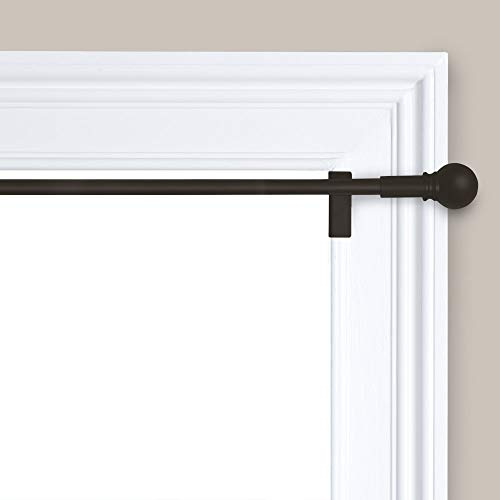 Maytex twist and shout Easy to Install Adjustable Tension Decorative Window Curtain Rod, 28 inches to 48 inches, Oil Rubbed Bronze