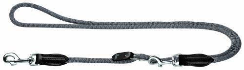 Hunter verstelbare hondenriem, 10 mm Diameter x 260 cm Length, grijs.