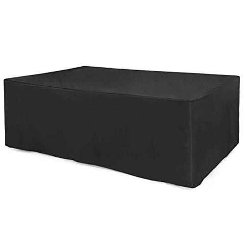 XXYANZI Funda Mesa Jardin Impermeable 240x240x85cm, Rectangular Cubierta de Muebles de Mesas Impermeable Transpirable, para Conjunto Mesa Exterior Terraza. - Negro