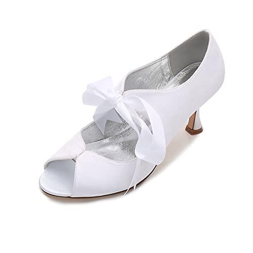 MNVOA Zapatos De Recepción De Boda para Mujer Sandalias De Tacón Bajo...