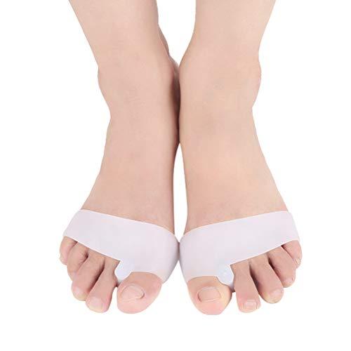 HEALLILY 1 paire de gel séparateur d'orteils oignon correcteur protecteurs redresseur entretoises flexibles écarteur caoutchouc étirement pour oignon soulagement de la douleur