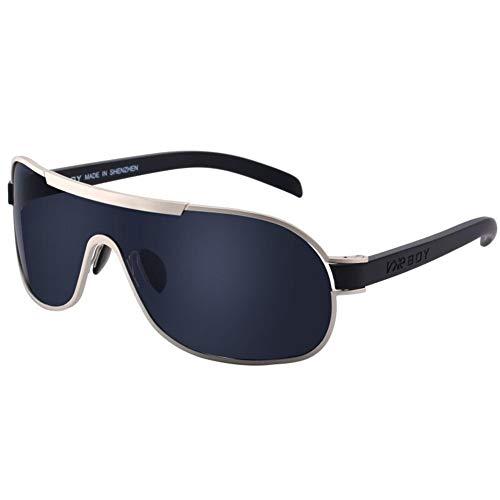 Sunglasses-TIANMING Super große Feld-Sonnenbrille Männer Trend Brille Persönlichkeit Sonnenbrille Platz Gesicht siamesische Fahrer Fahren Driving Polarizer (Color : Style 7)