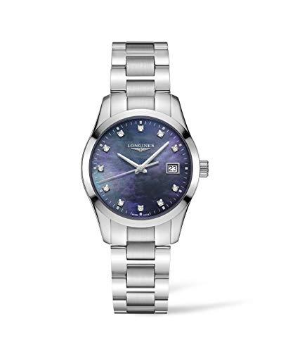 Longines orologio donna Conquest Classic 34mm madreperla nera acciaio quarzo L2.386.4.88.6