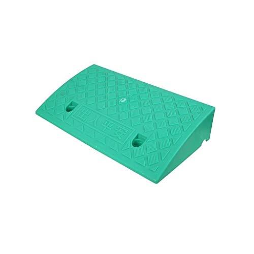Frenar rampas de Protección Ambiental de plástico Familia Rampas Las Personas con Movilidad Reducida con Silla de Ruedas Rampas Altura: 7-13CM (Color : Green, Size : 50 * 27 * 7CM)
