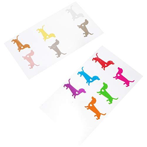 PRETYZOOM 12 marcadores de silicona para copas de vino con diseño de perro salchicha