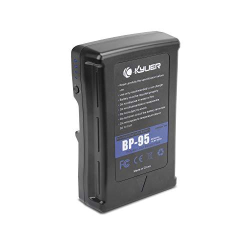 K KYUER 95Wh 6600mAh BP-95 V-Mount V-Lock cámara Batería and Adapter para...