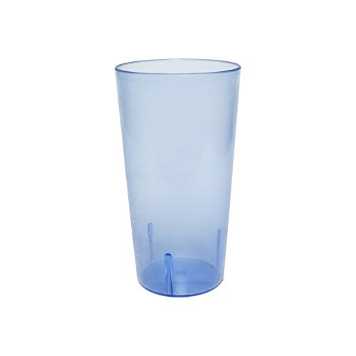 32 oz. (Ounce) Restaurant Tumbler Beverage Cup, Stackable Cups, Break-Resistant Commerical Plastic, Set of 4 - Blue