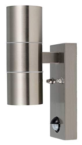 HEITRONIC Wandleuchte GRENADA mit Bewegungsmelder als UP- / Downlight mit GU10-Fassung für Leuchtmittel mit max. 35W 2-flammig, H = 220mm