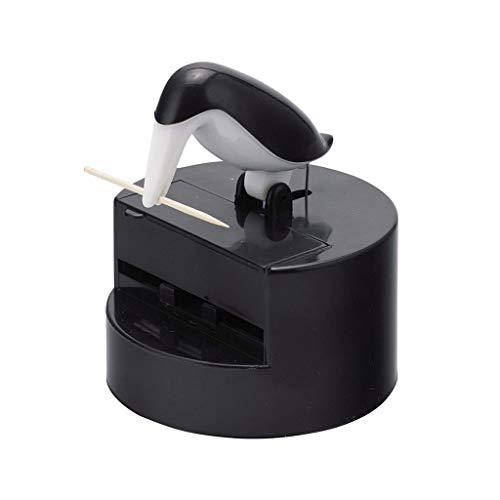 Balvi Palillero Pelican Color Negro Dispensador de Palillos Divertido y Decorativo Plástico