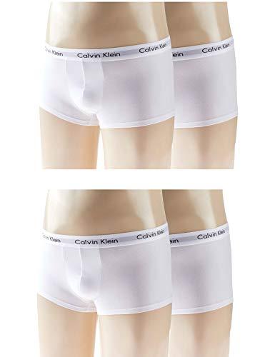 Kit com 4 Cuecas Low Rise Trunk, Calvin Klein, Masculino, Branco, GG