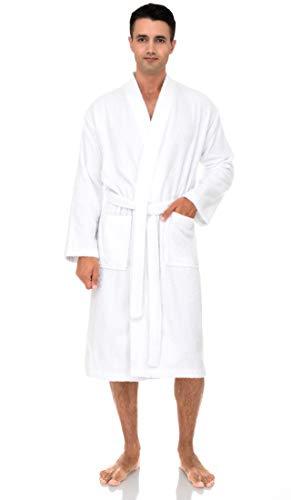 TowelSelections Men's Robe, Turkish Cotton Terry Kimono Bathrobe X-Large/XX-Large White