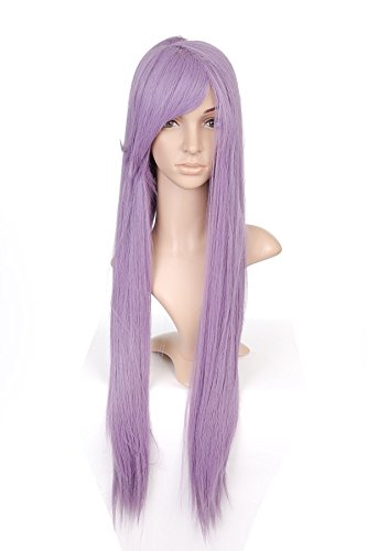 Purple longue Length Anime Cosplay Costume perruque