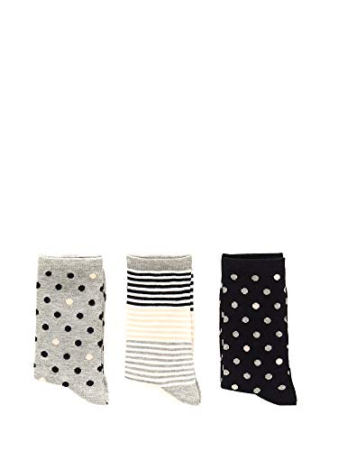 Pepe Jeans 3er Pack Evelyn Damen Socken mehrfarbig, Mehrfarbig 37