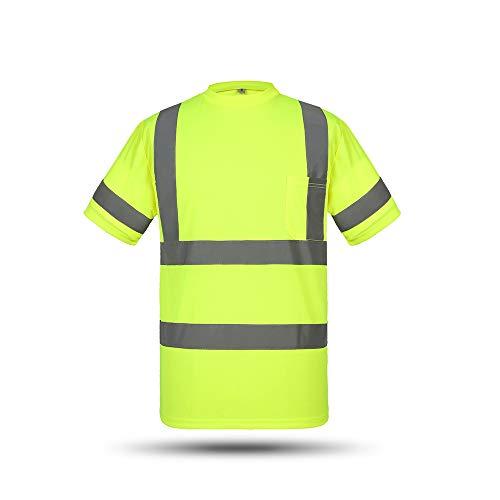 Hohe Sichtbarkeit Reflektierende Sicherheit Arbeitshemd Reflektierende Weste Atmungsaktive Arbeitskleidung Sicherheit Reflektierende T-Shirt Arbeitskleidung Sicherheit Poloshirt