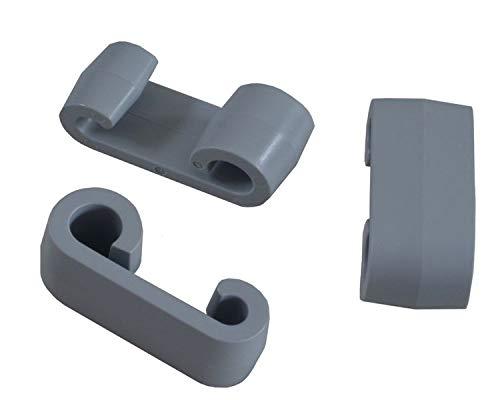 FKAnhängerteile 50 Stück - Expander - Doppelhaken - Planenhaken - Expander-Doppelhaken grau