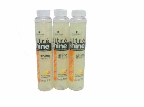 Schwarzkopf Citre Shine, Shine Miracle Intensive Treatment No Rinsing (Spanish Packaging) 3 Pack
