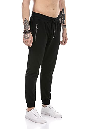 Redbridge Pantalón Chandal para Hombre Joggers Sweat-Pants Básicos Negro M