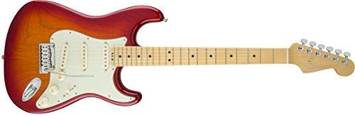 Fender エレキギター American Elite Stratocaster®, Ebony Fingerboard, Aged Cherry Burst