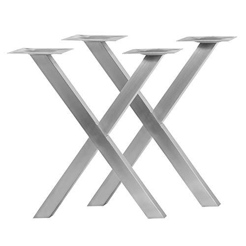 """Tischgestell Modell\""""X2\"""" aus Edelstahl (Paarpreis) Untergestell Tischfuß Bistrotisch Gastro Tisch"""