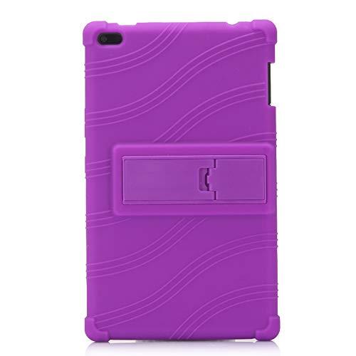 Oneyijun Púrpura Suave Silicona Piel Bolsa Proteccion Caso Protector Cubrir Funda para Lenovo Tab 4 TB-8504N/F 8.0 Pulgadas Tableta