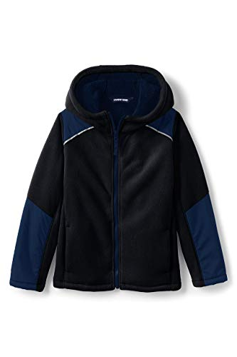 Lands' End Toddler Kids Bonded Fleece Jacket 3T Black