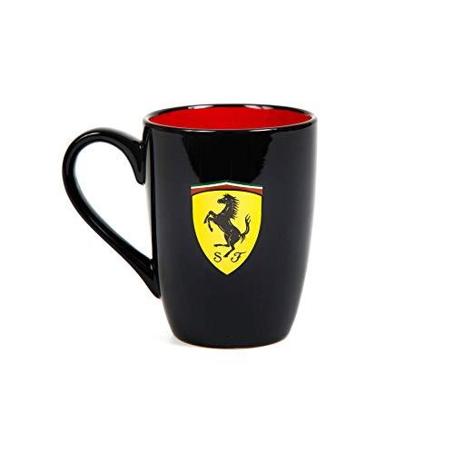 Ferrari Scuderia Tasse mit roter Innenseite, 2018, F1, offizielles Lizenzprodukt, Schwarz