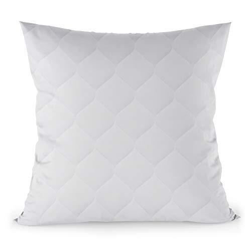 Amazinggirl Kopfkissen 80x80 cm Steppkissen Mikrofaser - Kissen für Allergiker füllkissen Bettkissen Schlafkissen weiß Pillow 80 x 80cm