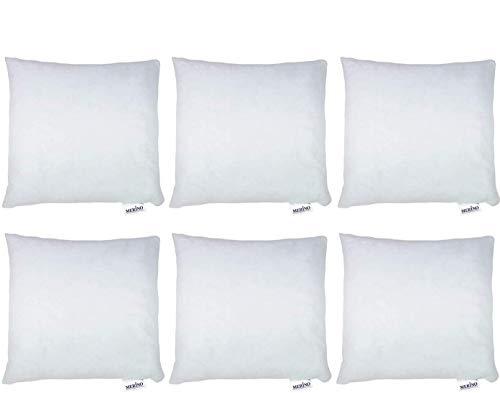 MERINO BETTEN 6er Set Kissen 40x40 | Kopfkissen | Sofakissen | Füllkissen mit Reißverschluss (weitere verfügar)