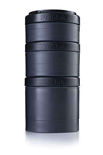 BlenderBottle ProStak Expansion Pak - 3 Pak Container (250ml, 150ml und 100ml) incluyendo recipiente para pastillas - negro