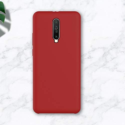 JIANWU CAS de couverture, for Xiaomi Redmi K30 Cobertura de Silicona líquida Funda Protectora de teléfono móvil (Color : Red)