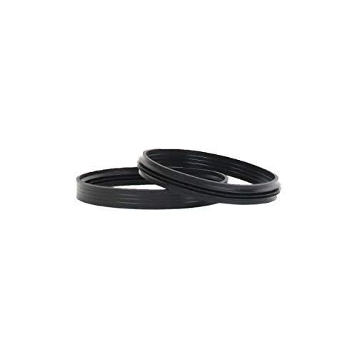 LANZZAS Pelletrohr Silikon-Dichtring - für den Durchmesser Ø 80 mm - Ersatz Dichtung für Pelletrohre (für innenliegenden Muffen)