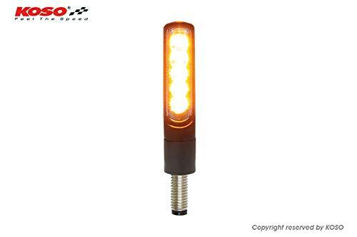 KOSO LED Sequenz-Blinker ELECTRO, schwarz, getöntes Glas