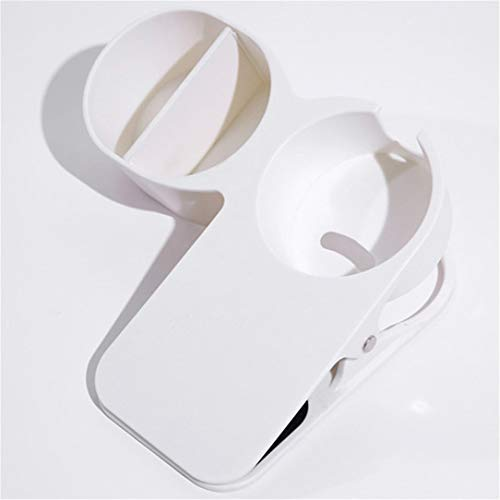 ZSDFW Soporte para vasos de bebida, con clip para mesa de oficina, silla de escritorio, soporte para taza de agua, cristal, botella, bebidas, refrescos, café, color blanco