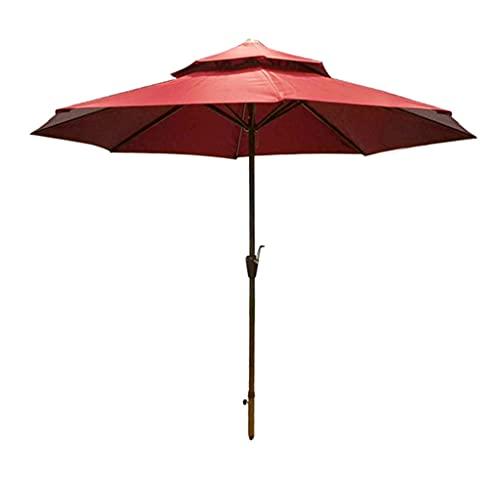 ZHIFENGLIU Sombrilla Exterior, 270cm Doble Techo Transpirable Sombrillas Terraza, Patio Parasol para JardíN Terraza Playa Café