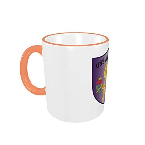 USS - Ajax - Ar6coffee mokken keramische cup, grote handgrepen beker voor thuis en kantoor cadeau voor vrouwen/mannen/kinderen grappig cadeau