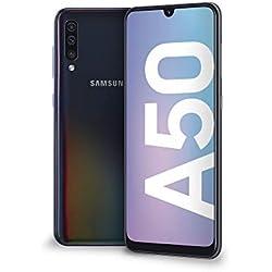 Samsung Galaxy A50 Smartphone, Display 6.4´´ Super AMOLED, 128 GB Espandibili, RAM 4 GB, Batteria 4000 mAh, 4G, Dual Sim, Android 9 Pie, [Versione Italiana], Black