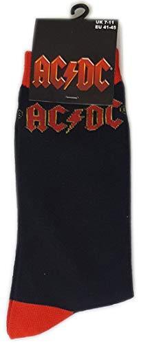 for-collectors-only AC/DC Socken Original Logo Größe 41-45 Strümpfe Rock Socks Size 7-11 ACDC Rocks