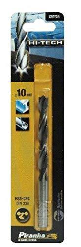 Piranha Metallbohrer HSS-CNC (10 mm Bohrerdurchmesser, 133 mm Gesamtlänge, geeignet für Metalle) 1 Stück, X50724