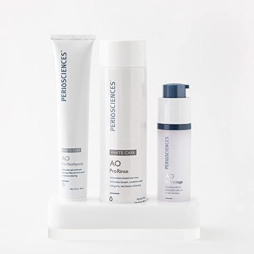 PerioSciences Antioxidant Natural Oral Care Kit System   Freshens Breath & Oral Mouth Protection (White Care)