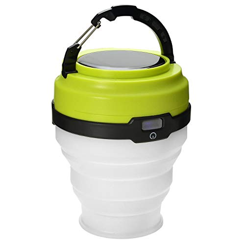 Odoland USB Rechargeable Solar Lantern, 3 Modes Collapsible LED Camping Lantern Emergency...