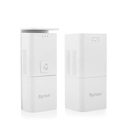Byron DIC-24815 tragbare Funk-Türsprechanlage mit Türklingel (Inneneinheit mobil)