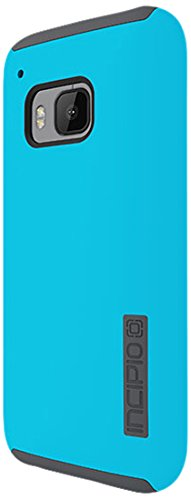 HTC One M9 Case, Incipio [Shock Absorbing] DualPro Case for HTC One M9-Light Blue/Charcoal