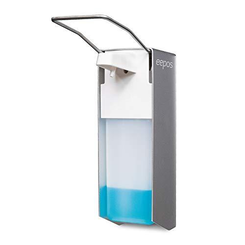 Desinfektionsspender Wandhalterung für Hände, inkl. Flasche 1000 ml, nachfüllbar, Seifenspender, Universalspender von eepos