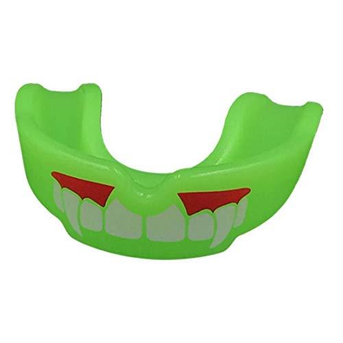 Boxen Mundschutz Mundstück Zähne Schutz Zahnspange Aufbewahrungsbox Lanyard (zufälliger Farbe)
