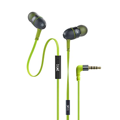 boAt Bassheads 225 in Ear Wired Earphones with Mic(Neon Lime)